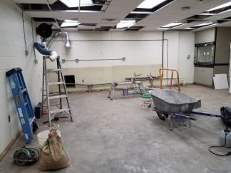 September 2020 - Asbestos has been removed and door frame has been widened